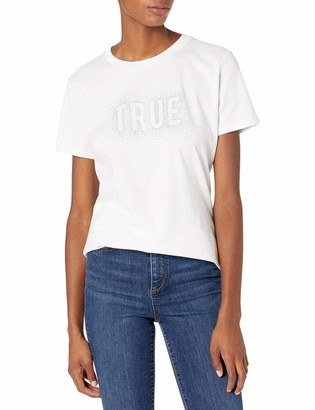 True Religion Women's Logo Short Sleeve Slim fit Crewneck Tee
