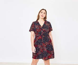 Oasis Curve Floral Print Dress