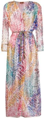 Missoni Mare Foliage Print Maxi Kimono