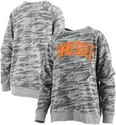 Unbranded Women's Pressbox Camo Tennessee Volunteers Gulfport Applique French Terry Crewneck Pullover Sweatshirt