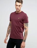 Lyle & Scott T-Shirt Eagle Logo In Burgundy Marl