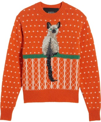 Marc Jacobs Cat Jacquard Wool Jumper