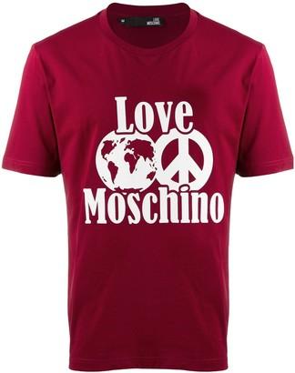 Love Moschino contrast logo T-shirt