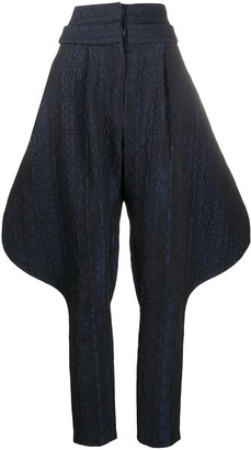 Chalayan Aztec riding trousers