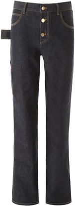 Bottega Veneta High-Waisted Wide Leg Jeans