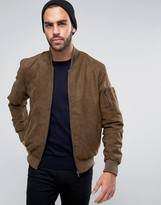 French Connection Suedette Bomber Jacket