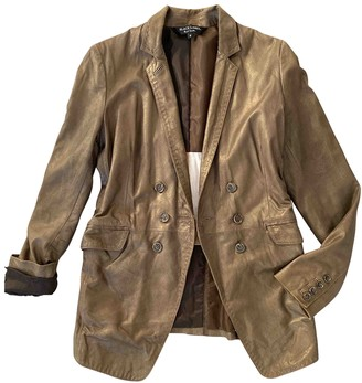 Paul Smith Gold Leather Jacket for Women