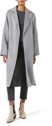 Frame Double Face Wool & Cashmere Wrap Coat