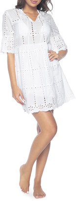 Pilyq Clarissa Eyelet Coverup Dress