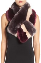Ted Baker Women's Stripe Faux Fur Scarf
