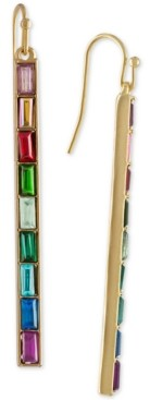 Rachel Roy Gold-Tone Multi-Stone Bar Linear Drop Earrings