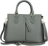 MuLier Large Handbag Front Vertical Zipper Pocket Real Leather Women Fashion Shoulder Bag