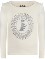 Juicy Couture Ivory Scottie Long Sleeve Top