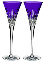 Waterford Crystal Lismore Pops Purple Toasting Flutes, Set of 2