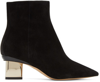 Nicholas Kirkwood Black Suede Prism Ankle Boots
