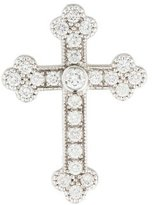 Jude Frances 18K Diamond Medium Guinevere Cross Pendant