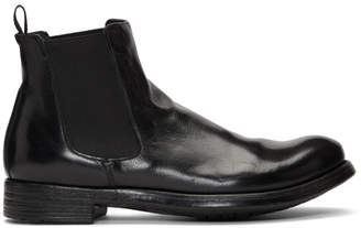 Officine Creative Black Hive 007 Chelsea Boots