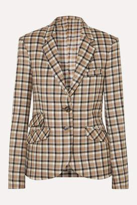 Paco Rabanne Checked Wool-twill Blazer - Beige