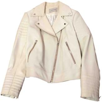 Yves Salomon Ecru Leather Leather Jacket for Women