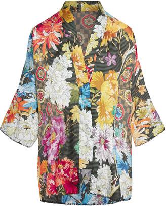 Johnny Was Plus Size Keane Reversible Silk Kimono