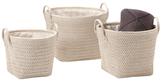 Torre & Tagus Ribeira Round Storage Baskets (Set of 3)
