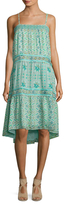Calypso St. Barth Carstens Silk Printed High Low Dress