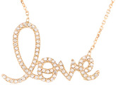 Alex Mika Script Love Necklace