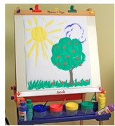Melissa & Doug Toddler Personalized Wooden Standing Art Easel