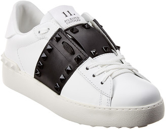 Valentino Rockstud Untitled Leather Sneaker