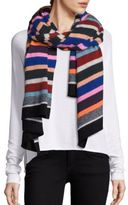 White + Warren Varsity Stripe Travel Scarf