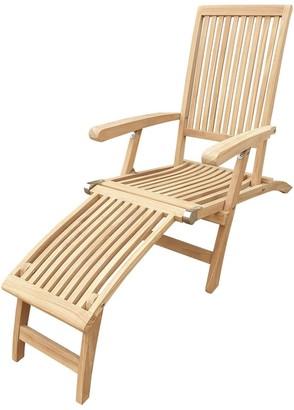 Seven Seas Teak Acapulco Outdoor Patio Steamer Chair