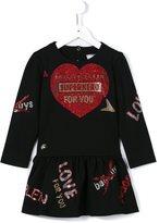 Philipp Plein sequinned heart dress