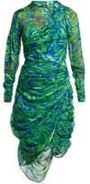 Preen by Thornton Bregazzi Lynn Devore Silk-blend Dress - Womens - Green Multi