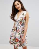 Oasis Botanical Placement Skater Dress
