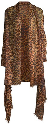 Saks Fifth Avenue COLLECTION Leopard-Print Cashmere Shawl