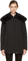 Moncler Black Down and Fur Agapanthus Jacket