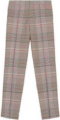 Burberry Wool Check Trouser in Beige | FWRD