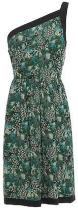 Anna Sui One-shoulder Floral-print Silk-georgette Mini Dress