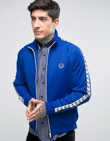 Fred Perry Sports Authentic Track Jacket In Blue