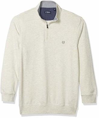 Chaps Men's Tall Classic Fit Textured Quarter Zip Sweater