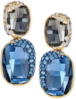 Swarovski Gold-Tone Crystal and Pavé Drop Earrings