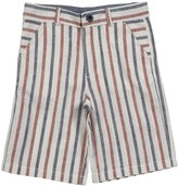 E-Land Kids Linen Striped Shorts (Toddler/Kids) - Multicolor-5