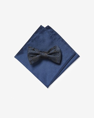 Express Paisley Pattern Bow Tie & Pocket Square Gift Set