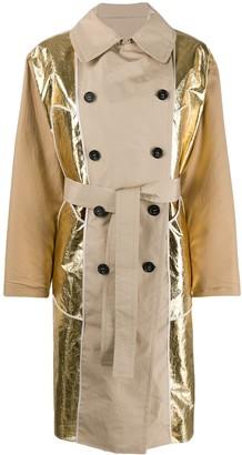 No.21 Metallic Panel Trench Coat