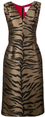 Carolina Herrera Tiger print dress