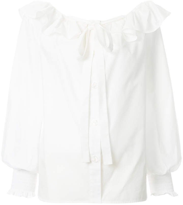 Marc Jacobs ruffle tie blouse