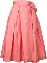 Jil Sander Navy midi full skirt - women - Polyester - 34