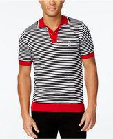Love Moschino Men's Contrast-Trim Striped Polo