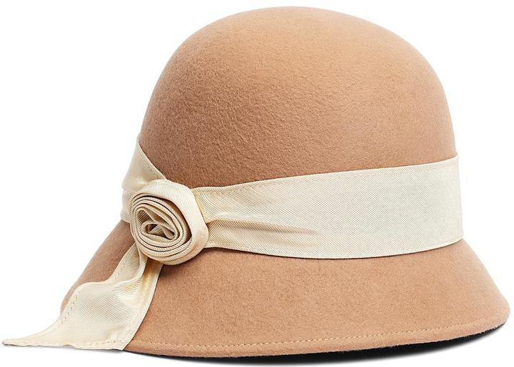 Brooks Brothers Twisted Knot Wool Cloche
