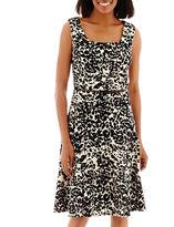 Evan Picone BLACK LABEL BY EVAN-PICONE Black Label by Evan-Picone Sleeveless Scoopneck Fit-and-Flare Dress